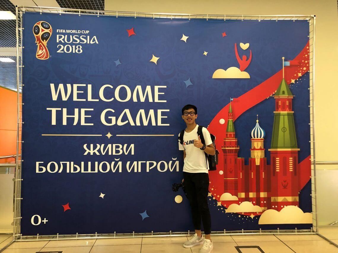 媒體傳播二年級何樂勤同學於2018年暑假親身到莫斯科為網絡媒體採訪世界盃賽事。