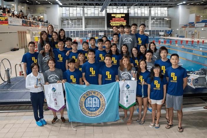 浸大運動員在大專水運會中取得15年來最佳成績